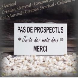 """Enamel plate """"Pas de Prospectus"""""""