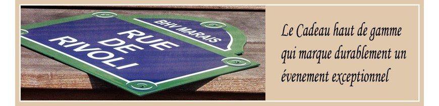 Plaque de rue de Paris émaillée - Plaques de rue personnalisées